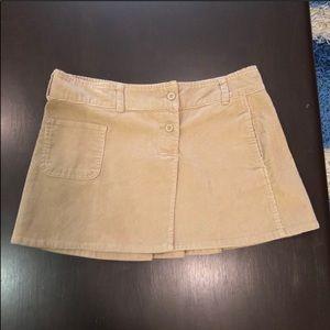Old Navy Tan Corduroy Mini Skirt Size 10 Like New